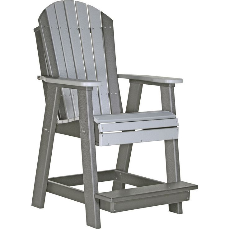 LuxCraft Counter Height Recycled Plastic Adirondack ...