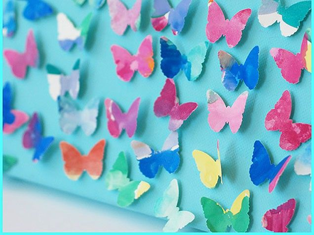 Our Favorite DIY Wall Art Projects For Kids' Rooms: Butterfly Effect