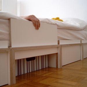 die besten 25 bett ideen auf pinterest selbstgemachte bettrahmen hochbett und diy plattform bett. Black Bedroom Furniture Sets. Home Design Ideas