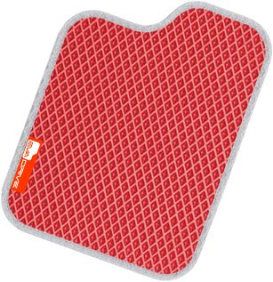 Автомобильные коврики EVA-DRIVE, красный цвет