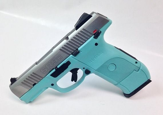 tiffany and co handgun | ... Ruger and Company) : For Sale: Tiffany Blue Ruger SR9C SS 9mm Handgun