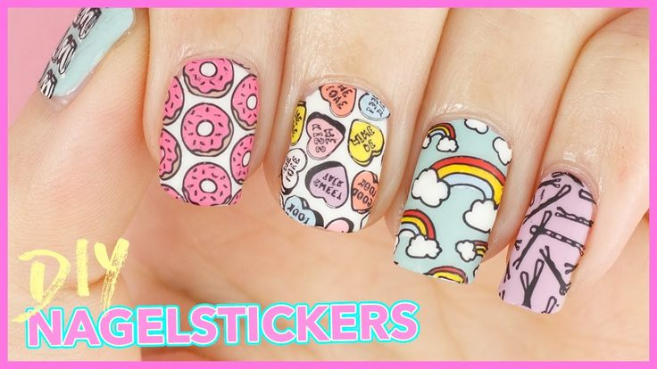 DIY Nagelsticker | Reverse Stamping - Tumblr Girl & Crystal Clear von MoYou London - YouTube
