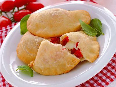 Panzerotti w/ Tomato and Mozzarella Cheese