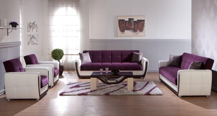 purple living room sunset vella living room set   decor - purples