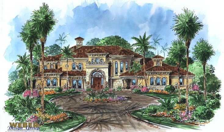 Best 25 luxury mediterranean homes ideas on pinterest for House plans for golf course lots