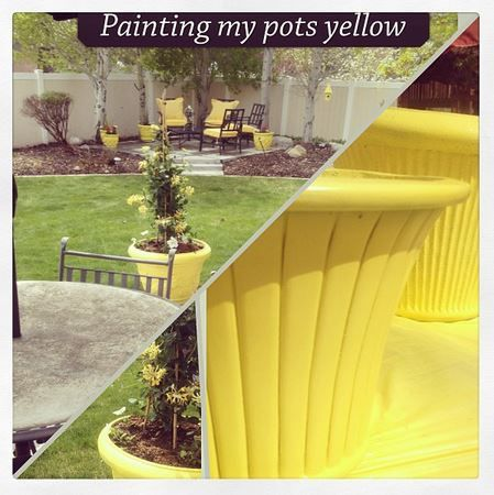 Easy Outdoor DIY: How to Spray Paint Resin Pots