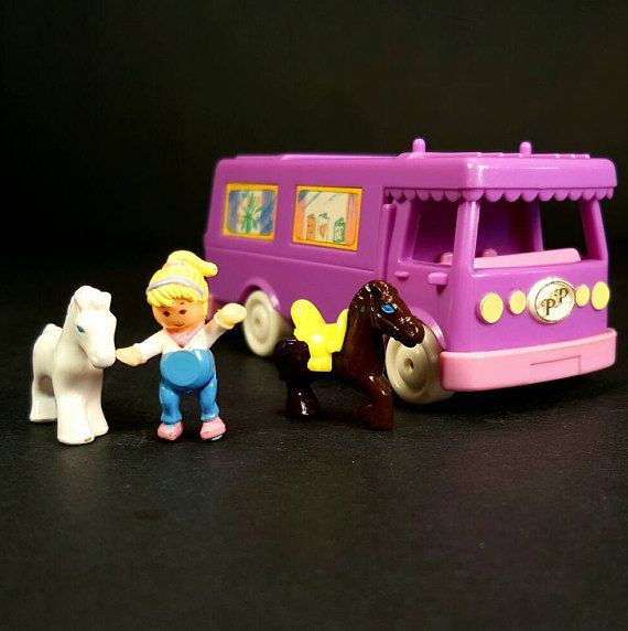 COMPLETE Polly Pocket STABLE On The GO 1994 Vintage Bluebird