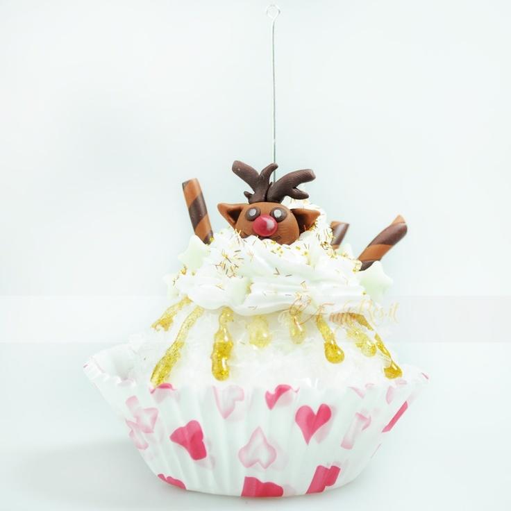 cupcake renna natalizia segnaposto
