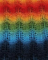 Crochet rainbow ripple blanket