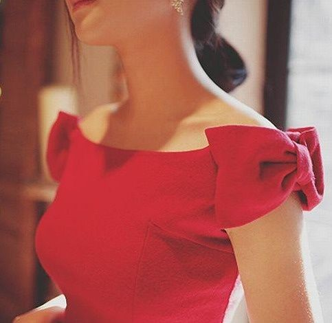 Valentino Red Bow Dress