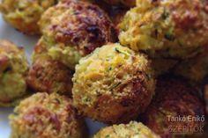 sajtos- kuszkuszos zöldségfasírt sütőben sütve