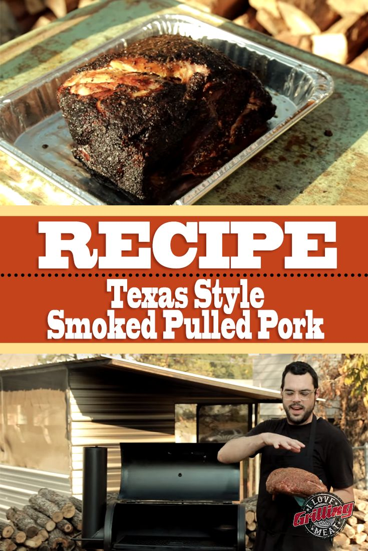 Texas Style Smoked Pulled Pork Recipe                                                                                                                                                                                 More