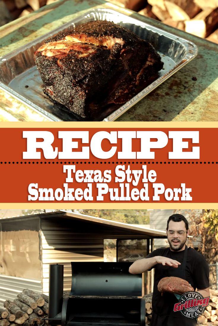 Texas Style Smoked Pulled Pork Recipe