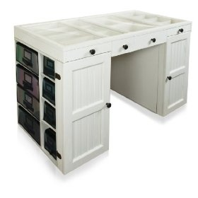 Craft Scrapbooking Desk Is A Workspace And A Storage Solution That Looks  Like High End