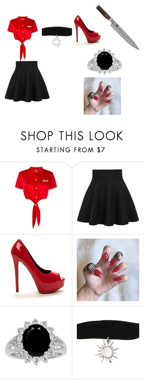 """""""Bon Appe'tit"""" by kannibale-lecter ❤ liked on Polyvore featuring GCDS, WithChic, Hot Topic and Shun"""
