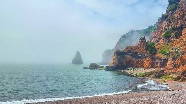 "Nova Scotia (@visitnovascotia): ""Cape Chignecto is beautiful by land and by sea. You can kayak among sea stacks or hike the towering…"""