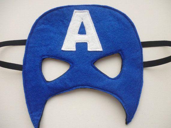 Blue mask with capital A. felt mask for dressing by MummyHughesy