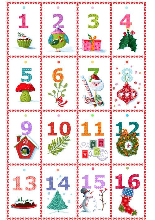 Mini page A4 calendrier de l'avent
