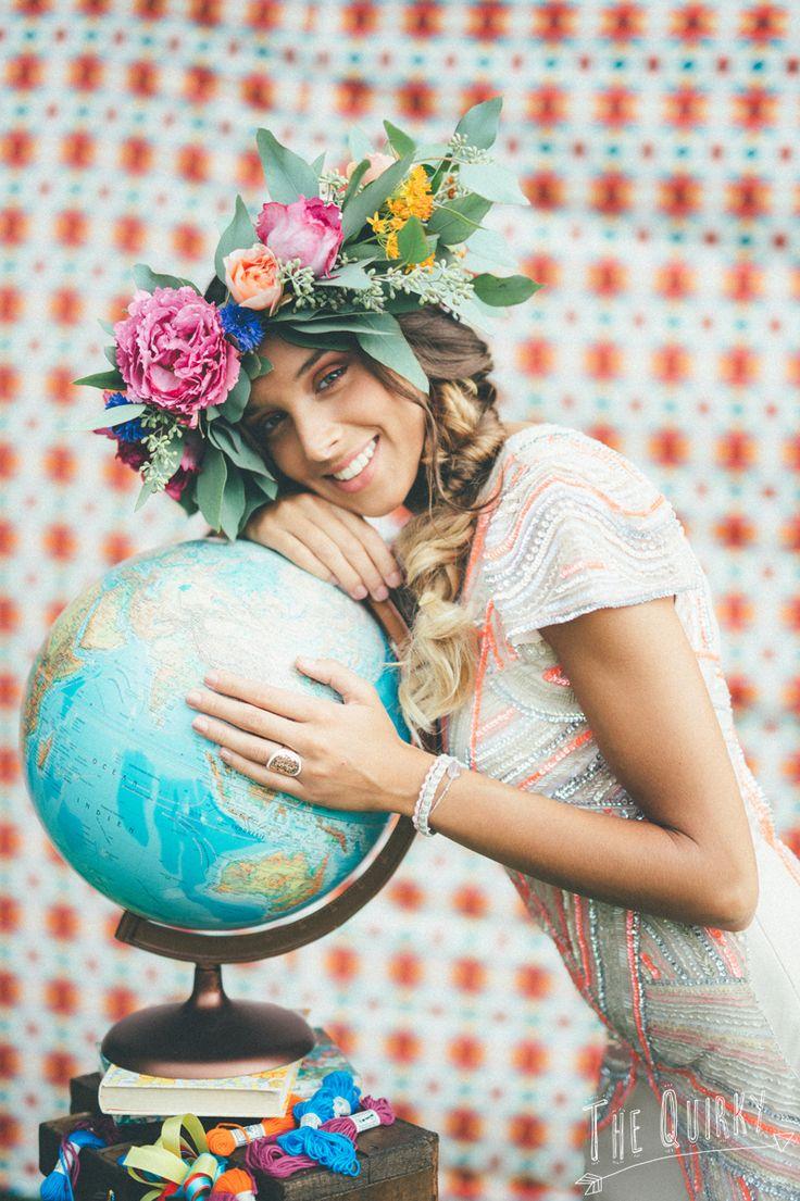 Bridal Crown - Couronne de mariée : Lily Paloma - Photographe : The Quirky
