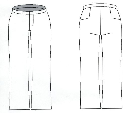 Free pattern - Pants with waistband front and back