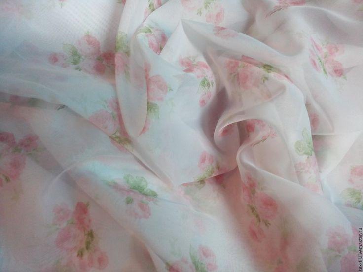 """Купить Вуаль """"розочки"""" для штор. Стиль Прованс. - белый, тюль с розочками, вуаль с цветами, шторы"""