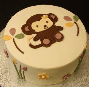 52 best birthday party monkey theme images on pinterest monkey cakes birthday party ideas - Baby shower cakes monkey theme ...