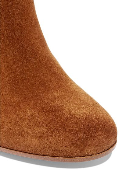 Gianvito Rossi - Suede Knee Boots - Brown - IT41.5