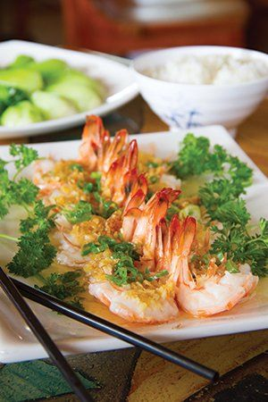 Steamed Garlic Shrimp at Mandarin Taste. #Tulsa