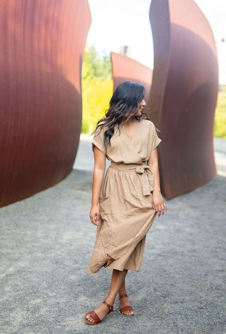 Keep It Under Wraps Midi Dress Shoprollick Com Tan Midi Wrap Dress Fall Dress Casual Fall Style Tra Dresses Casual Fall Stylish Summer Outfits Fashion [ 1084 x 736 Pixel ]
