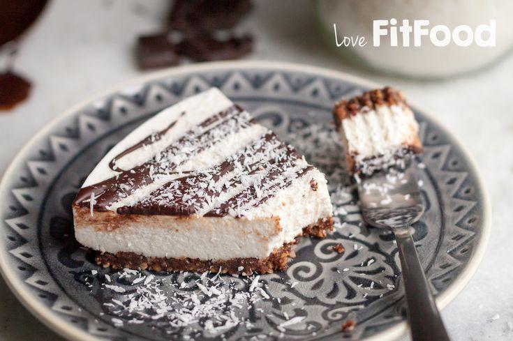 Love, FitFood | Paleo kokos cheesecake met pure chocolade (zuivelvrij, suikervrij, glutenvrij) |