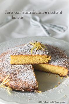 Torta con farina di mais e ricotta al limone
