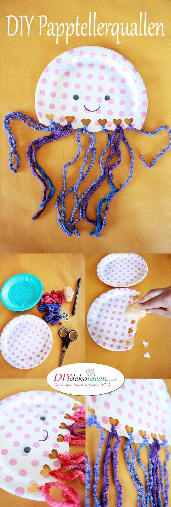 Jellyfish from paper plates – DIY crafting ideas for crafting with small children