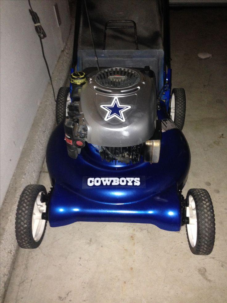 dallas cowboy lawnmower perfect