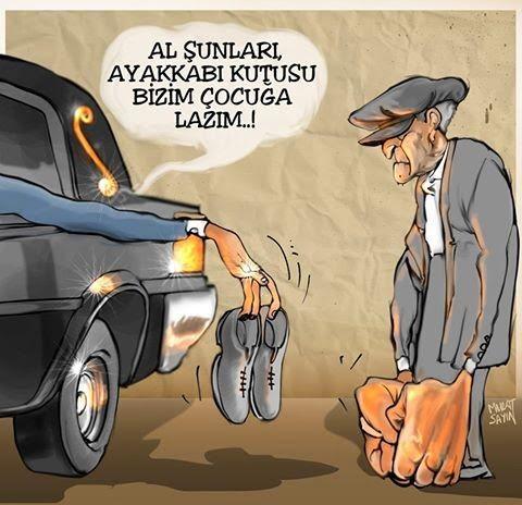 Siyasi Karikatürler: Ayakkabı ve kutusu - Murat Sayın