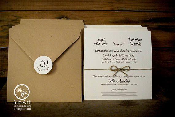 Partecipazione Invito Nozze Country Wedding Invitations Invitations Wedding