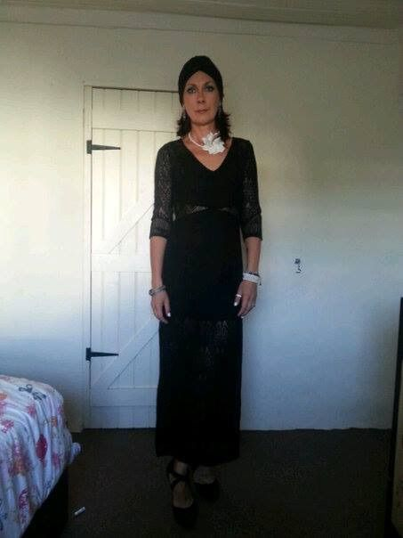 #glam#black#partytime#perls#turban#polish#