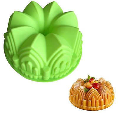"""9"""" Round Silicone Cake Mold Pan Muffin Chocolate Pizza Pastry Baking Tray Moulds"""