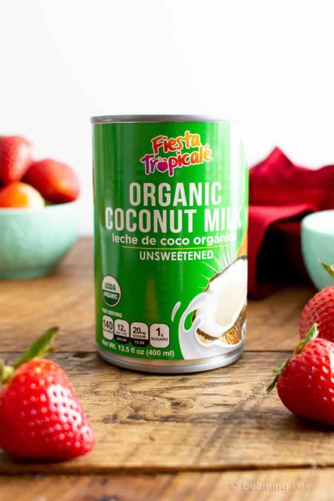 3 Ingredient Strawberry Coconut Sorbet Paleo Vegan Dairy Free
