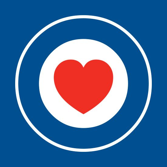 Mod love. The only tee that will fit perfectly underneath your parka. Spread the mod love!