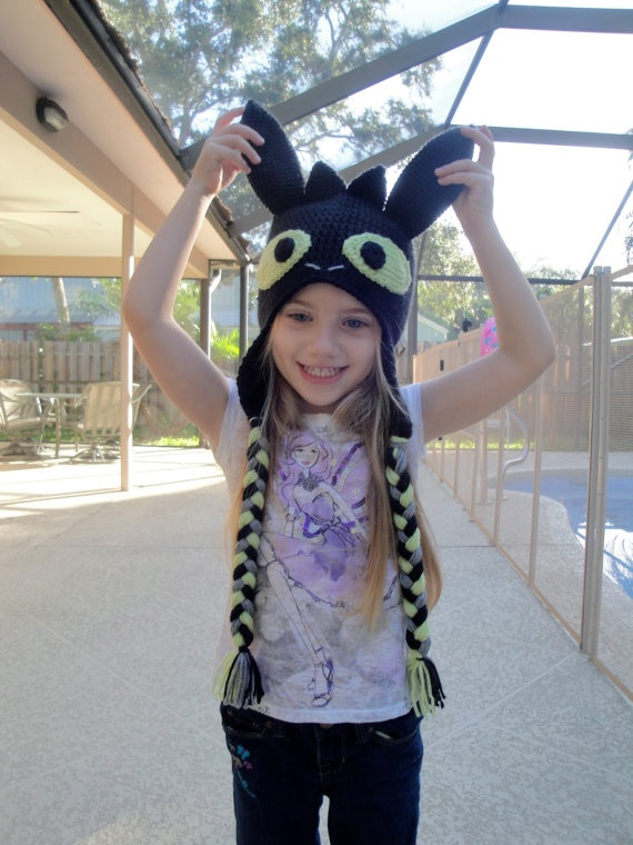 Toothless hat w/ flaps I <3 how to train your dragon... #httyd2 #toothless #hat