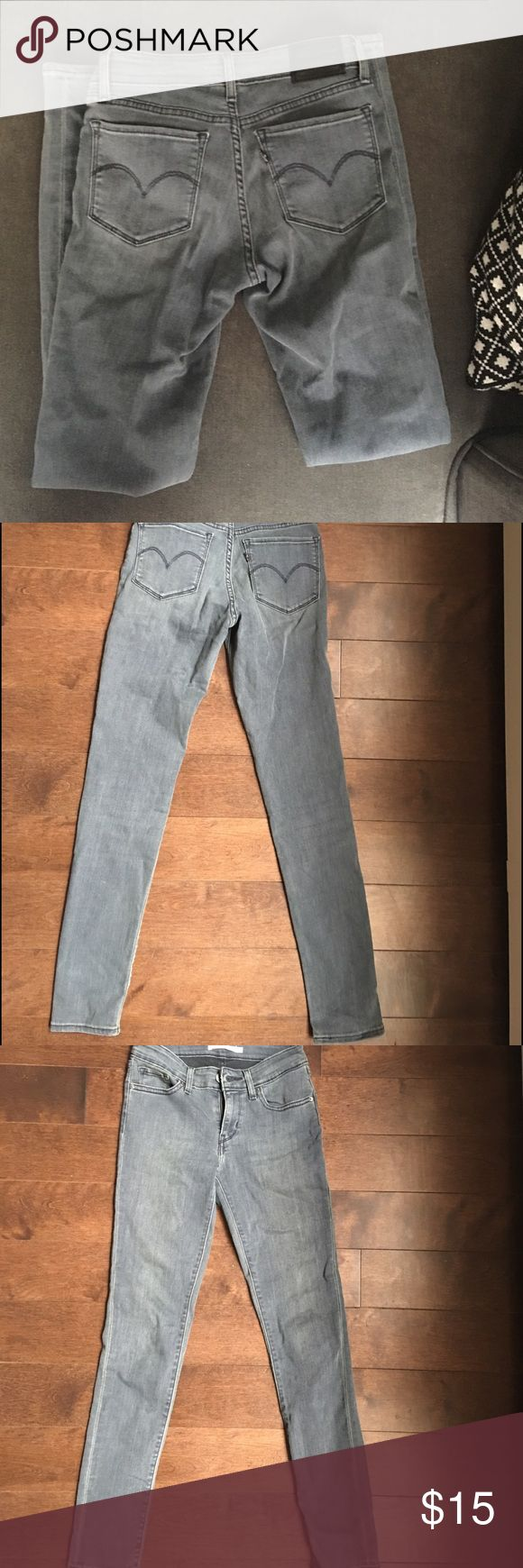 Levi Skinny Grey Jeans 711 Skinny Levi Jeans. Never worn. Length: approx 38 inches. hug your butt and legs in all the right places ✨ Levi's Pants Skinny