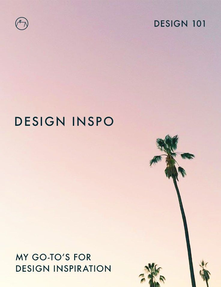 My go-to places for design inspiration from type inspiration to color inspiration and web design inspo. Click through to read full post or pin to save for later!