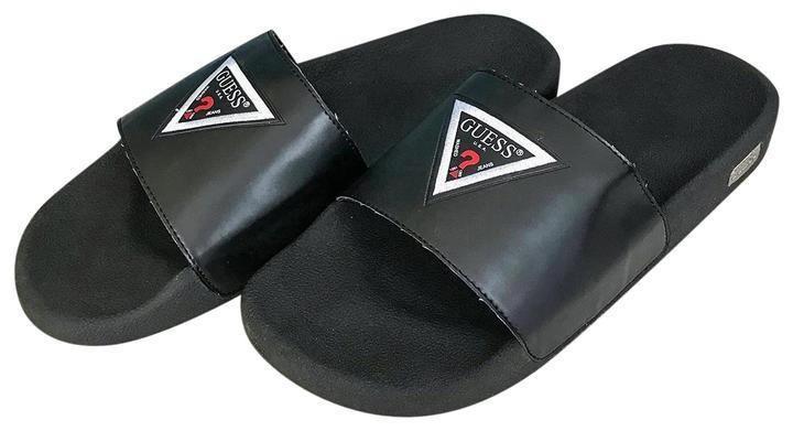 GUESS MEN'S Size 11M Isaac Black Slide