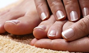 Groupon - Pedicure and Basic or Shellac Manicure at Angel Tips (Up to 51% Value) in Roslyn Heights. Groupon deal price: $15