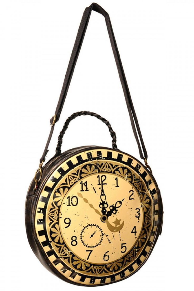 #vintage look #clock #bag