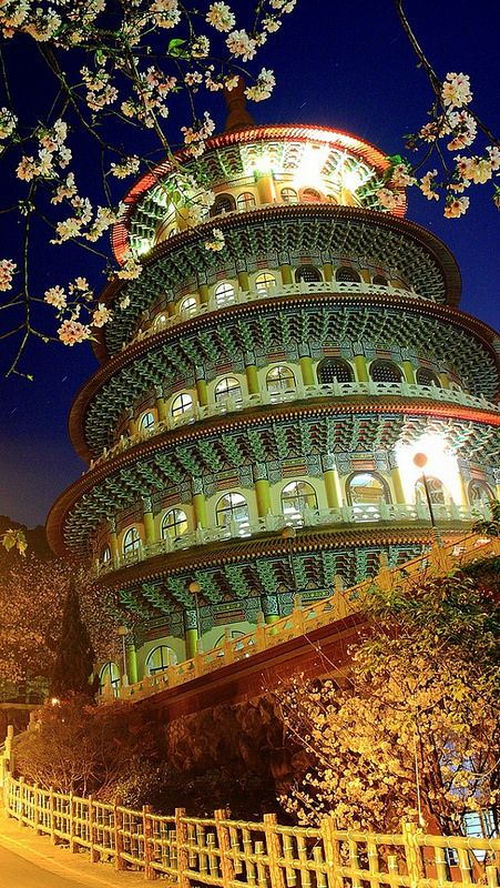 china_building_evening_trees | In #China? Try www.importedFun.com for award winning #kid's #science |