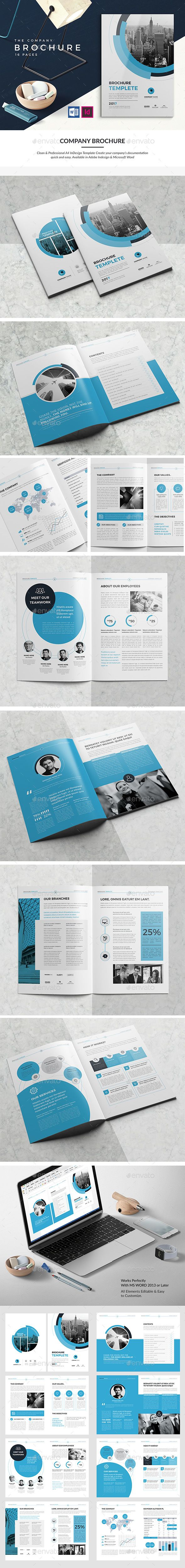 CO Brochure 16 Pages — InDesign INDD #indesign #brochure • Download ➝ https://graphicriver.net/item/co-brochure-16-pages/19561947?ref=pxcr