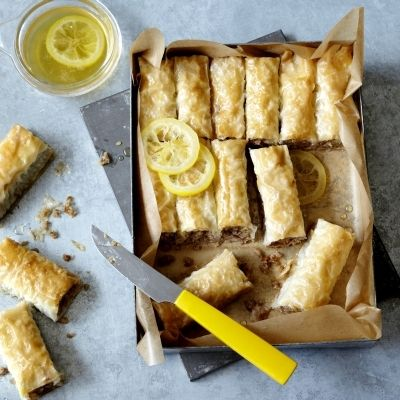 Healthier Vegan Baklava Rolls from The Vegan Baker, by Dunja Gulin