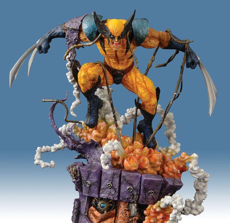 NEW Kotobukiya Wolverine Blue Version Diorama Statue X MEN Figure NOT Sideshow | eBay
