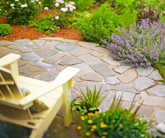 Build a Patio in 6 Simple Steps Pave the way for a new outdoor room in six easy steps. From Better Homes and Gardens.
